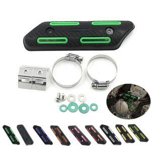 Para KLX 250 EXC SXF 450 CRF 230 de la suciedad de escape motocrós de la bici de la motocicleta Escudo térmico protector del protector de la cubierta