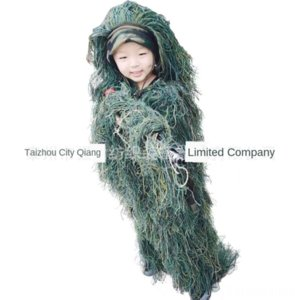 Children's silk 5-piece suit camouflage hunting wool Wool bird-watching reality CS camouflage
