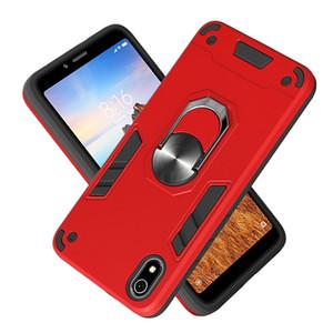 Metal Armor Car Anneau Porte-cas pour Xiaomi Mi CC9 Pro / Mi Note 10 / Mi Note 10 Pro magnétique Pare-chocs Phone Housse