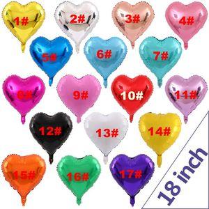 Hota Sale Love Heart Shape 18 pulgadas Foil Balloon Cumpleaños boda Año Nuevo Fiesta de graduación Decoración Globos de aire DH0358