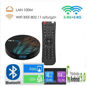 HK1MAX Android 9.0 Smart TV BOX RK3318 Quad Core 2.4G&5G Wireless WIFI Set Top Box Media player
