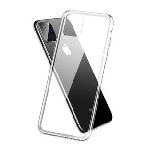 TPU trasparente per iPhone involucro 12 PRO MAX Galaxy S10 Nota 10 A20E 1.0MM spessore di copertura libera trasparente molle della cassa robusta di cristallo posteriore