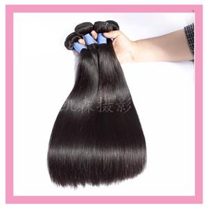Indiano prime vergini dei capelli umani 3 pacchi 8-30inch Diritto 9A doppie trame Capelli lisci Natural Color 3 Bundles