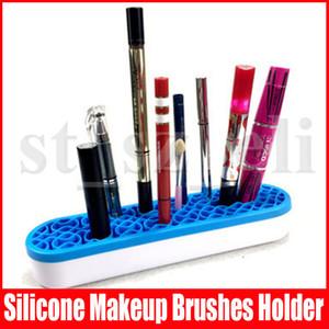 Silikon Makyaj Fırçası Tutucu Organizatör Yüz Makyaj Fırça Kurutma Çiçek Şekli Fırçalar Raf Güzellik Kozmetik aracını Display Raf