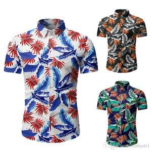 Mens Summer Desinger Printed Shirt Casual New Fashion Short Sleeve Lapel Neck Slim Fit Fashion Shirt