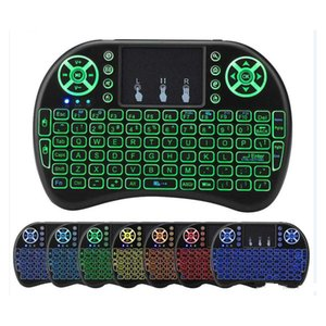 I8 Mini Keyboard backlight Fly Air Mouse recarregável bateria de lítio-ion 2.4GHz Wireless Remote Control Para Android TV Boxes PC