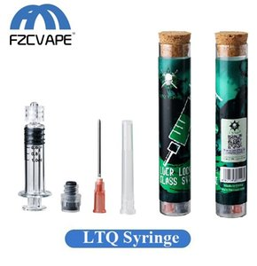 Kit de jeringa de vidrio LTQVAPOR popular 1.0ml 2.0ml Luer Lock Inyector de vapor con punta de aguja para llenado de aceite grueso