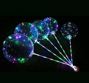 Luminous Latex Balloons LED con bastone gigante luminoso BOBO Balloon Festival per feste Decorazioni di nozze della festa di compleanno