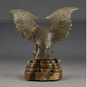 청동 손으로 만든 오래된 중국 빈티지 브래스 경감 님이 Hammered 부 성공적인 독수리 동상 동상 도매 공장 황동 예술 콘센트