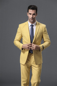 Popular Two Buttons Groomsmen Notch Lapel Groom Tuxedos Groomsmen Best Man Suit Mens Wedding Suits Bridegroom (Jacket+Pants+Tie) B239