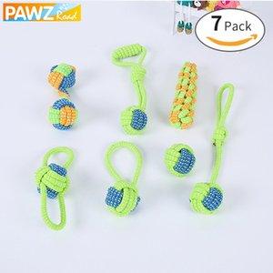 7 pz Corda di Cotone Nodo Cucciolo Sicuro Chewing Dentizione Giocattoli Pulizia Dei Denti Pet Giocare Palla Per Piccoli Cani di Media Grande Q190523 Q190523