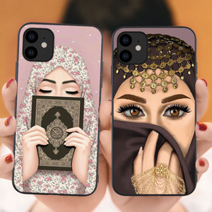 Luxury Woman In Hijab Face Silicone Case for iPhone 11 Pro Max X 2019 Muslim Islamic Gril Cover For iPhone X 7 8 Plus XS Max XR