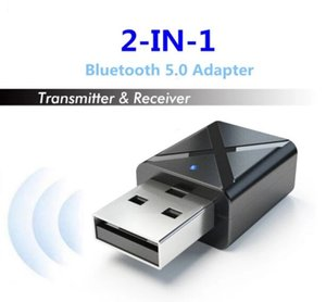 KN320 BT 5.0 Mini USB Audio Receiver Transmitter Wireless Adapter with 3.5mm AUX Stereo for TV PC Car