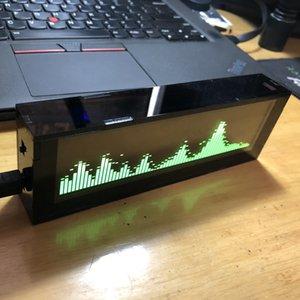5,5 polegadas AS256 Professional Música Spectrum exibição Car Amplificador de áudio Modificação OLED Nível Balance Indicador-Green exibição