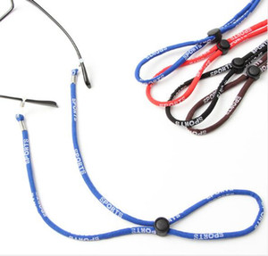 10pcs Quality cheap Wholesale adjustable sporty glasses string neck held strap eyeglasses cord muti-color glasses rope 60cm freeshipping