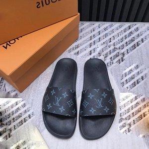 2019 En kaliteli Erkekler Kadınlar Tasarımcı Lüks Slayt Yaz Moda Geniş Düz Kaygan ile Kalın Sandalet Terlik EUR35-46