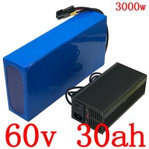 la batería de la batería de 60V 30Ah 60V de la batería scooter eléctrico bicicleta eléctrica de 60V de litio para 60 motor ebike 30AH V 1500W 2000W 2500W 3000W