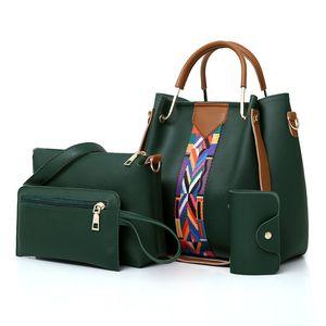 Rosa donne Sugao borse a tracolla di marca della borsa del totalizzatore del progettista 4pcs / set sacchetti di Crossbody della borsa della signora borse per lo shopping borse in pelle di alta dell'unità di elaborazione