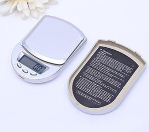 الجملة درع الشكل 200G 0.01g مقياس المحمولة مقياس مجوهرات الرقمية البسيطة A04 الماس الجيب LCD منصة موازين الوزن ميزان وزن