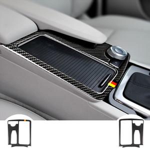 탄소 섬유 스티커 멀티미디어 Handrest 물 컵 홀더 패널 커버 메르세데스 벤츠 W204 W212 C 클래스 E 클래스 자동차 액세서리