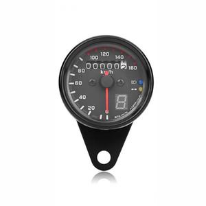 Mostra Moto doppio del tachimetro Calibri ingranaggi digitale con indicatore LED moto tachimetro misuratore universale