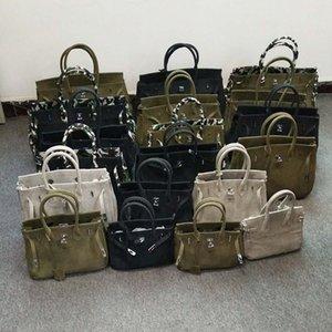 2020 Nouveau mode classique créatif personnalisé sac artisanat armée verte de toile de sac à main MX200805