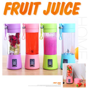 380ml Mini Personal Portable Blender Juicer Bottle Cup Mix Blend Rechargeable Jet Wireless Squeezers Fruit Blender Mixer Reamers