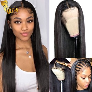 Silky Straight 13x4 Lace Front Human Hair Wigs Full Lace Wig 100% Unprocessed Brazilian Indian Virgin Straight Human Hair For Black Women