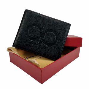 الإيطالي مصمم العلامة التجارية الرجال حامل بطاقة الائتمان المحفظة الفاخرة فقرة قصيرة جلد محفظة جيب مع مربع سعر الجملة