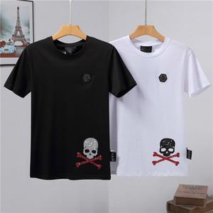 KK hombres de lujo camiseta de manga manera de los hombres de cuello redondo camisetas cortas del verano del diseño del algodón tes de las tapas de los cráneos camiseta de la impresión de la medusa ocasionales adelgazan las camisetas