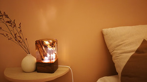 LED wood lamp epoxy resin wood sinobrilla clear table light crystal gel for christmas holidays