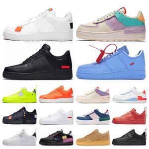 Nike Air force one 1 En kaliteli erkek bayan koşu ayakkabı programı siyah beyaz volt toplam turuncu bir erkek eğitmenler platformu kaykay sneakers off white