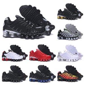 Top qualité TL Hommes Chaussures de course respirant Chaussures sport de marche en plein air Noir Blanc Chaussures R4 formateurs