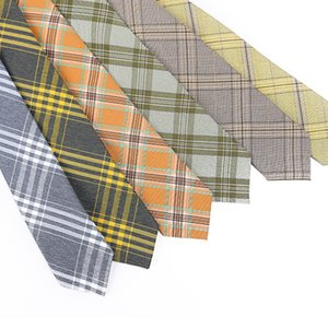 Linbaiway Novelty Cotton Neck Tie for Mens Suit Plaid Neck Ties Slim Plaid Necktie for Women Casual Tie Corbatas Neckwear Gift
