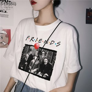 Penny Wise Michael Myers Jason Horror Character Halloween Friend Tv Show Print T Shirt Women Plus Size Casual Clown Terror