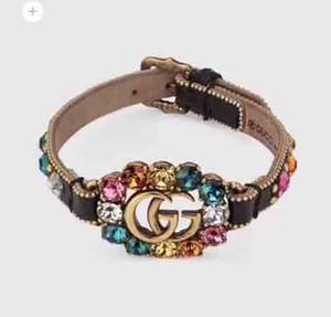 Paris de style femmes bracelet cuir geniuine avec le diamant de bijoux cadeau de mariage bracelet punk amour expédition PS5257A gratuit