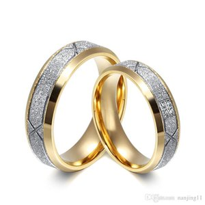 Wedding Rings With Sand Finish Design Wholesale 316l Stainless Steel Rings for Women Snd Men Engagement Rings CR-052