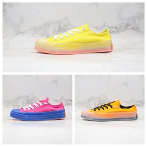 New 2020 Hot 70s Wave CX jelly yellow pink orange Elastic canvas upper sole Men Women Sneaker Casual Canvas Shoes Size36-44
