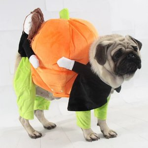 Funny Pet Dogs Halloween Christmas Clothes Pumpkin Cosplay Costume Suit For Dogs Party Dressing Up Dog Clothing