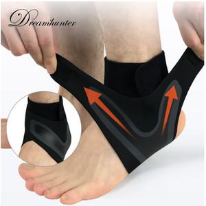 Дешевые сжатия Поддержка спорта лодыжки поддержки Brace Регулируемый эластичный пятки ног бинты Anti-вывихнуть Баскетбол Футбол голеностопного Protector