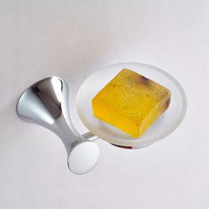 Eco-Friendly FRAP цинковый сплав хром мыльницы Марка Аксессуары для ванной комнаты Стеклянная тарелка мыльница F3502