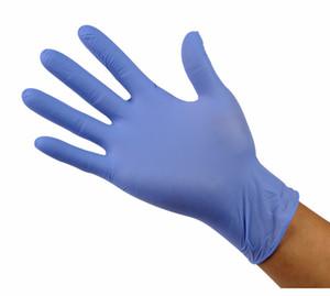 Spedizione gratuita monouso guanti Food Grade controllo ispessimento guanti di gomma nitrile usa e getta testare i guanti senza polvere acido prevenzione della corrosione