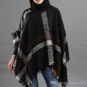 Moda outono e inverno capas colar colar calor das senhoras solta franjas capa calor xale moda e cuidados da pele