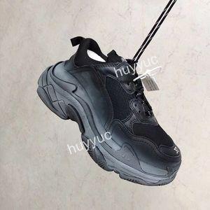 Mode luxe hommes triplets femmes noires les hommes blancs jaune vert gris beige rouge de chaussures ourdoor Intensifier concepteur Casual Shoes papa