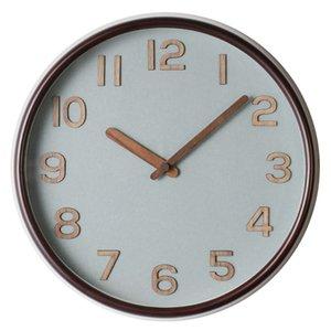 Retro Wood Wall Clock Creative Design Living Room Wall Clock Movement Brife Solid Wood Watch Quartz Home Europe L