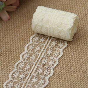 10 m / lote 4.5 cm Cinta de encaje Tela de adorno de encaje Decoración de boda rústica Ropa de costura bordada artesanal Vestido Material de bricolaje