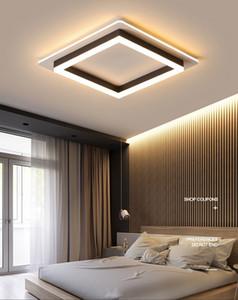LED moderne Lustre pour le salon Plafonnier Noir Lampe blanc avec une chambre télécommande New Lighting Lustre Lampadari LLFA