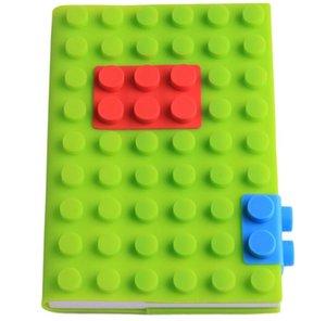 Nova moda estudante escola cadernos crianças criativas blocos de presente Blocos de construção de botão de silicone capa de negócios notas livro Viagem Journa