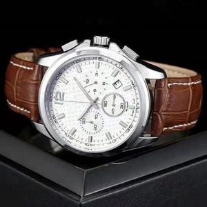 2020 Nueva Marca longine seis series de puntadas de alta calidad para hombre de moda de lujo de trabajo pequeña aguja relojes del reloj de los hombres con correa de cuero