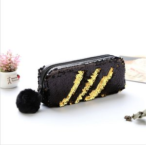 New Women Bag Lovely Mermaid Sequin Glitter Cosmetic Bag For Lady Pencil Box Coin Purse  Case Popular